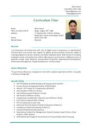 Sample Resume For Hotel Management Fresher by Cv Rizki Firbani Nov 2015