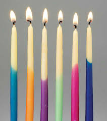 hanukka candles dipped eco friendly beeswax hanukkah candles