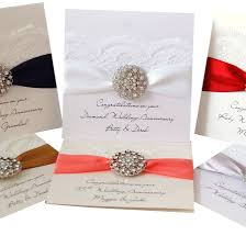 Silver Jubilee Card Invitation Opulence Wedding Anniversary Card By Made With Love Designs Ltd