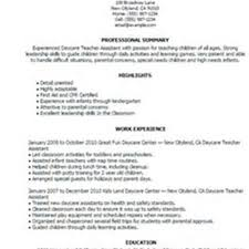 Sample Resume For Daycare Teacher by Eteach Teaching Assistant Resume Sales Assistant Lewesmr
