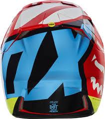helmet motocross fox 2017 v3 creo helmet red manchester xtreme