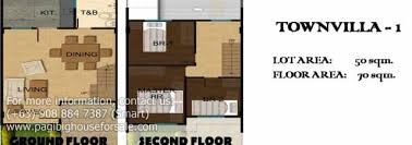 Breeze House Floor Plan Townvilla At Amaya Breeze U2013 Pag Ibig Rent To Own Houses For Sale