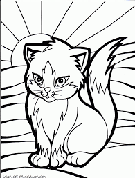 realistic coloring pages of cats black cat color sheet animal for