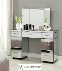 Vanity With Mirror For Sale Table Licious Mirrored Dressing Table Or Vanity With Nine Drawers