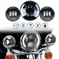 harley davidson lights accessories 7inch led projector daymaker headlight passing fog light kit for