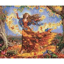 counted cross stitch kit fall 6548673 hsn