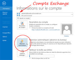message d absence du bureau configurer le message d absence du bureau dans outlook