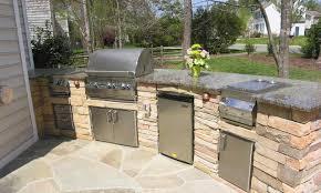 outdoor kitchen cabinets diy black ceramic countertop brick l