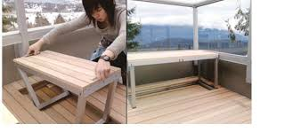Convertible Picnic Table Bench Backyard Deck Rail Bracket Picnic Table Patio Dining Set Garden