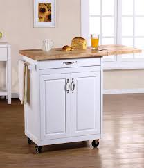 Wheeled Kitchen Islands Portable Kitchen Islands In 11 Clean White Design Rilane