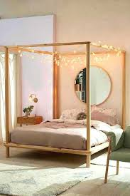 Four Post Canopy Bed Frame Canopy Beds Wooden Tushargupta Me