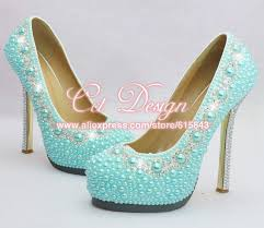light blue womens dress shoes new arrival ladies crystal and light blue pearls wedding shoes