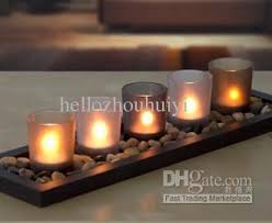 serenity 5 glass colourful candle set tealight tone with