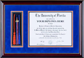 diploma frame ufdf002 deluxe diploma frame with cap tassels and honors cords