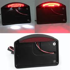 motorcycle license plate frame with led brake light aliexpress com buy black motorcycle side mount tail light license