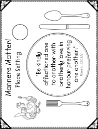 place setting template coloring pages of place setting