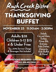 thanksgiving buffet creek bistro