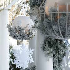 christmas hanging baskets with lights 30 amazing diy outdoor christmas decorating ideas and tutorials 2017