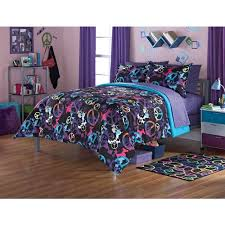 Duvet Comforter Set Your Zone Peace Splatter Bedding Comforter Set Walmart Com