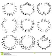 set of 9 draw vector victory laurel wreaths for stationary