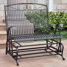 Blazing Needles Patio Cushions by Oakland Living Rochester 4 Ft Tubular Iron Outdoor Glider