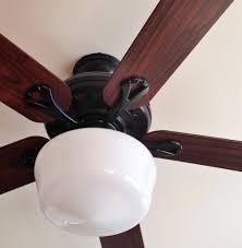 Ceiling Fan With Schoolhouse Light Schoolhouse Light Ceiling Fan Home Design Ideas