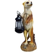 kingfisher solar powered meerkat with lantern light co uk