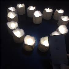 fake tea light candles small flickering decorative candles with remote control yellow red