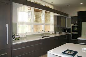 backpainted glass softens a kitchen