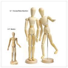 wooden manikins wooden human mini mannequin unisex 4 5 inches