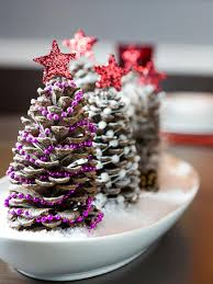 pine cone tree topper decorations for