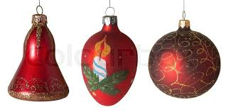 new year toys collection of new year s christmas tree toys stock photo