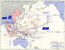 Map Of World War 1 by Map Of Wwii The Far East And The Pacific 1943