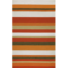 Trans Ocean Rugs Ravella Stripe Orange Outdoor Rug Dfohome