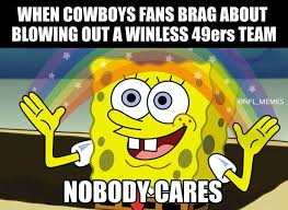 memes have fun with cowboys blowout win over 49ers houston chronicle