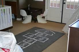 black hopscotch rug u2014 room area rugs hopscotch rug u0026 bean bag set