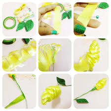cara membuat bunga dari kertas pita jepang prakarya jaman sd 4 bunga dari pita plastik kitty manu