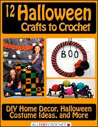 12 halloween crafts to crochet diy home decor halloween costume