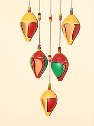 hanging home decor terracotta shell hanging home decor