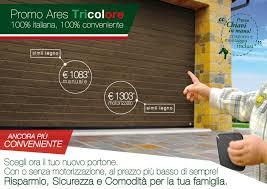 portoni sezionali prezzi promo ares tricolore portoni sezionali breda al prezzo pi禮 basso