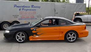 black tangerine orange 1995 ford mustang gt coupe