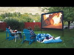 Backyard Movie Theatre by Camp Chef 120 Inch Portable Outdoor Movie Theater Screen With 600d