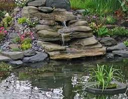 Garden Pond Ideas Preformed Waterfall In Grey Slate Wedding Pinterest