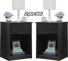 lovable black nightstand set black dresser and nightstand set
