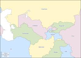 Central Asia Map by Central Asia Free Map Free Blank Map Free Outline Map Free