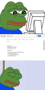 Sad Meme Frog - even google can t help pepe the sad frog by asif zaman 50552