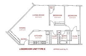 2 Bedroom Floor Plans by Floor Plans Realife Cooperative