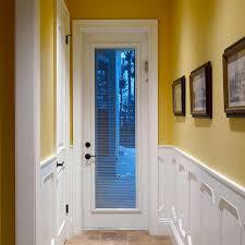 Back Exterior Doors Narrow Exterior Door With Blinds Between Glass