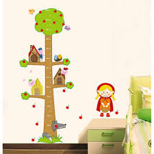 wall decals australia art stickers tree nursery baby room tree growth chart height wall sticker