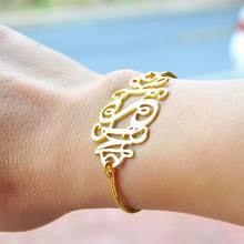 Monogrammed Bangle Bracelet Popular Monogram Bangle Bracelet Buy Cheap Monogram Bangle